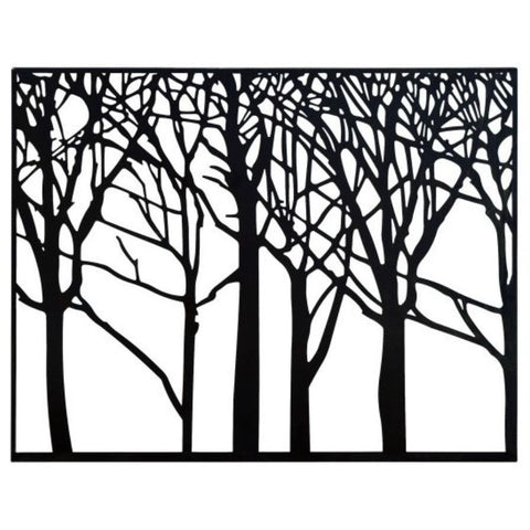 Benzara 74801 Metal Tree Wall Art Decor Black