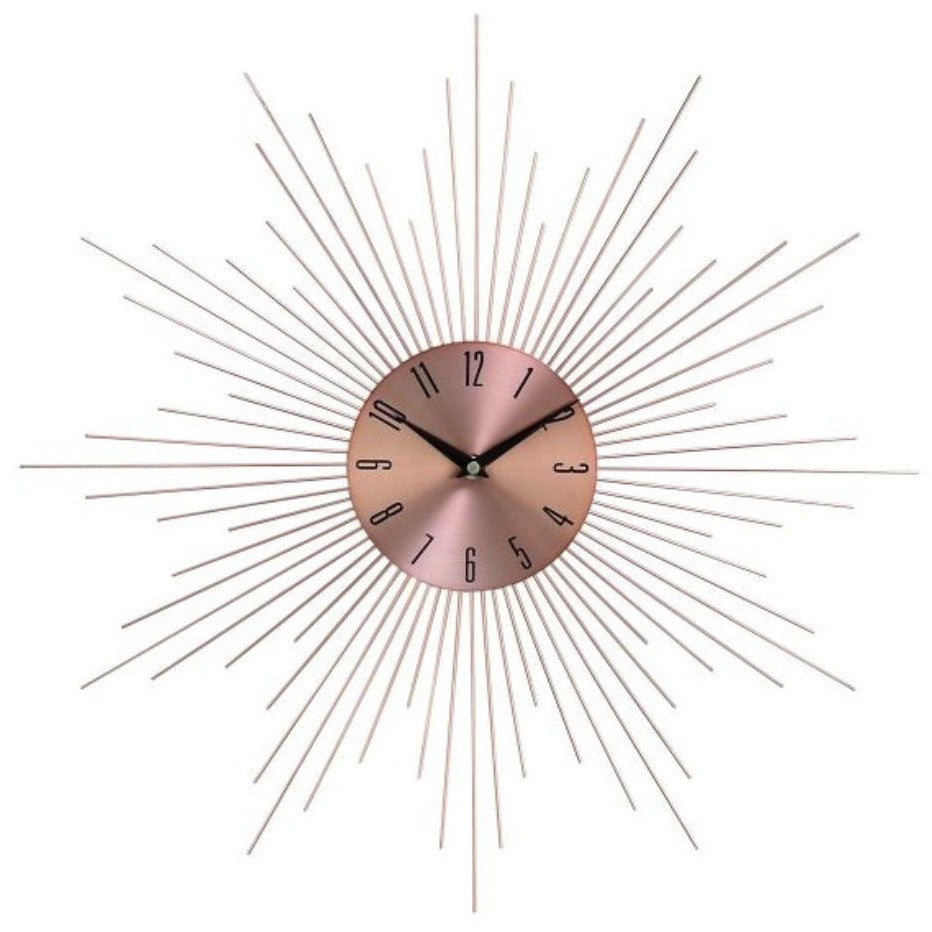 "Benzara 85514 Metal Sunburst Wall Clock 20""D"