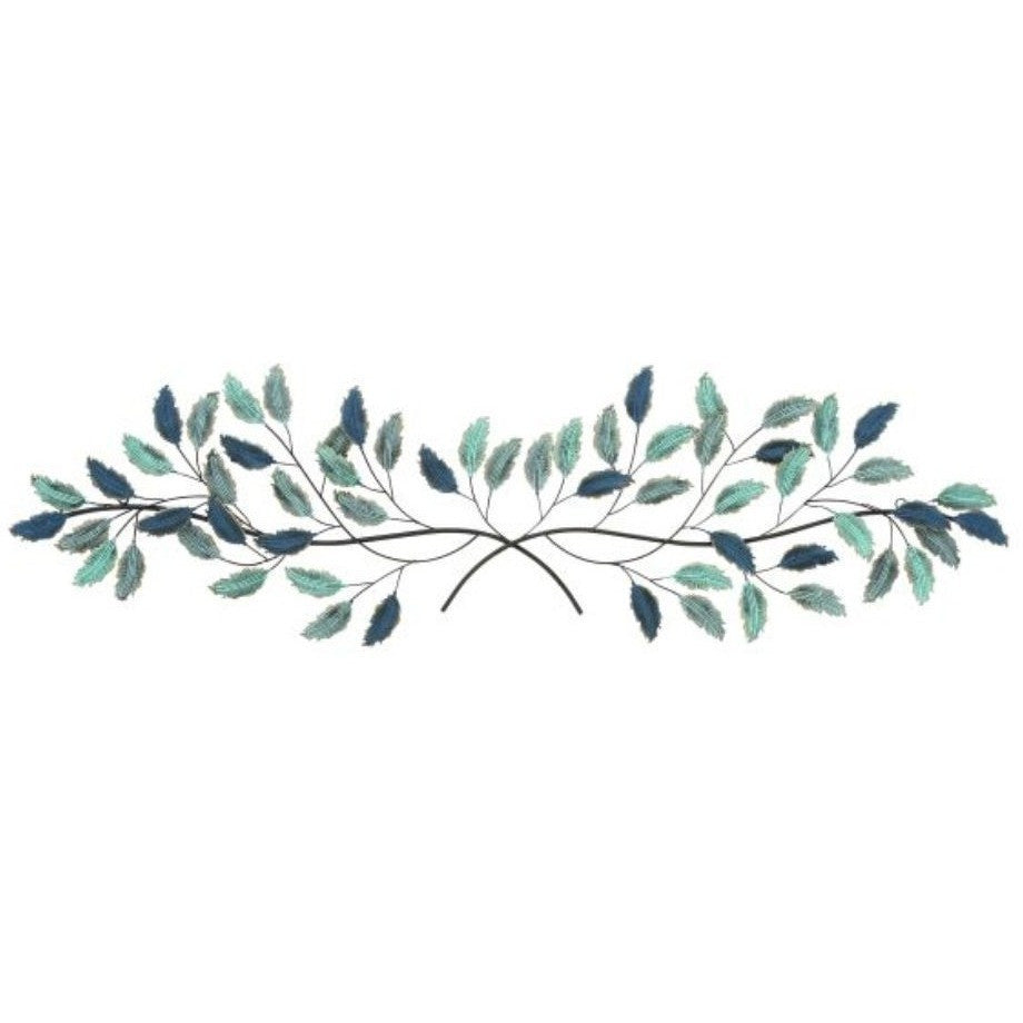 "Benzara 95457 Metal Leaf Wall Art Decor 53""W"