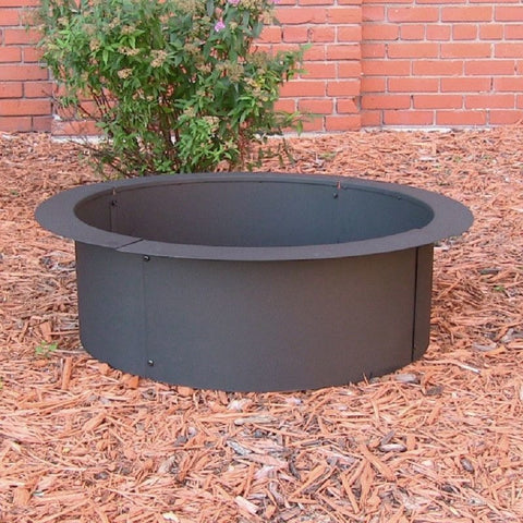 Sunnydaze Fire Pit Rim Make Your Own in Ground Fire Pit FPR101 , Home & Garden > Fireplaces - Sunnydaze, Ruby Skies At Night - 1