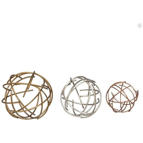 Stratton Home Decor 3 Piece Sphere Table Top Decor SHD0270