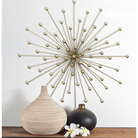 Stratton Home Decor Gold Burst Wall Hanging Art