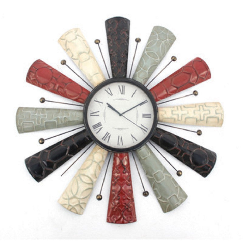 Teton Home WD-013 Vintage Decorative Metal Wall Clock