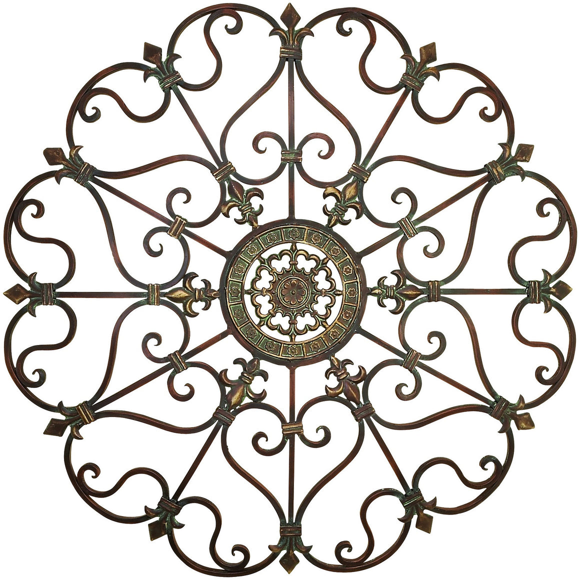Benzara Inc 50094 Old World Round metal Wall Art