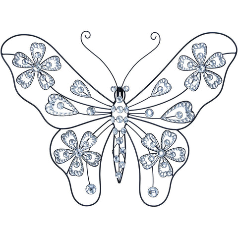 Benzara 53024 Creative Metal Acrylic Butterfly Wall Art