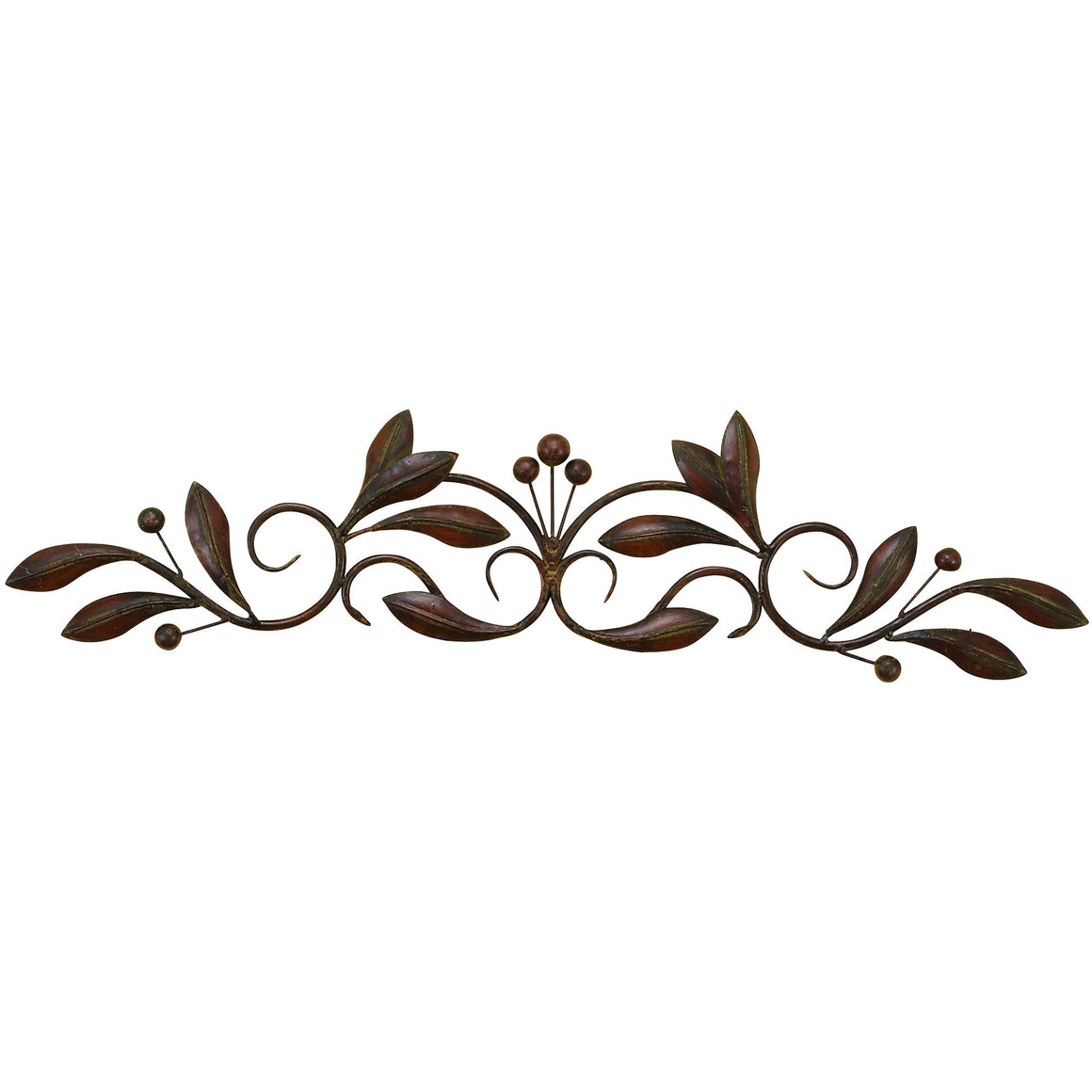 "Benzara 99545 Leaves Scroll Metal Wall Sculpture 30""W"