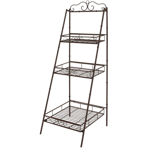 Benzara 41404 Useful Metal 3 Tier Shelf Plant Stand