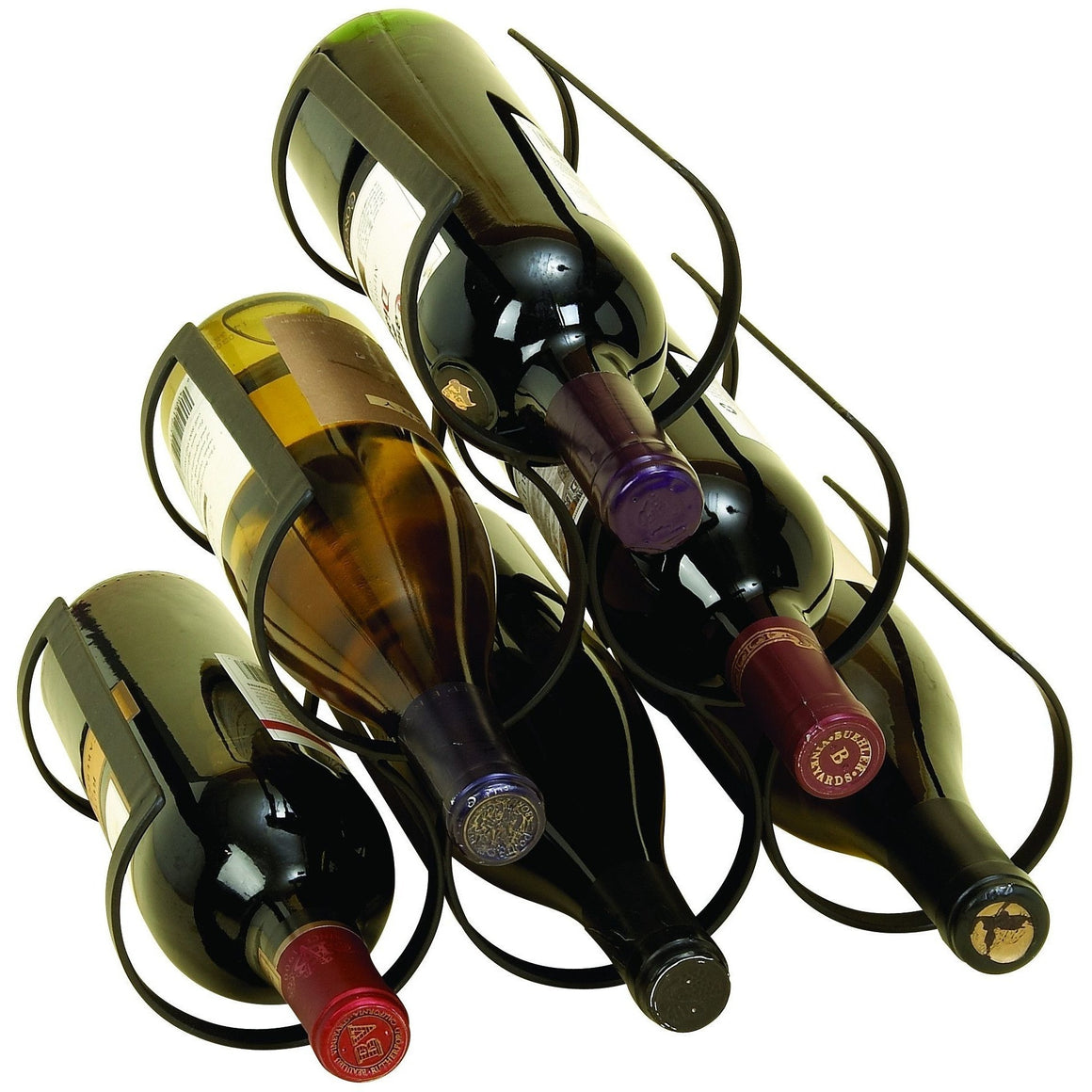 Benzara 50039 Western Horse Shoe Metal Wine Rack