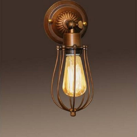 "Frances LD5004 Antique 5"" Edison Wall Lamp with Bulb"