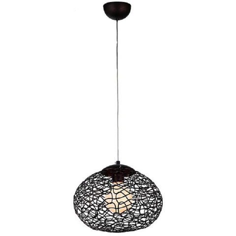 Aaliyah 1-light Chrome 12-inch Glass Pendant Lamp 0446-1