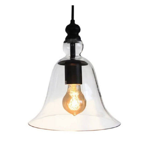 "Marlowe LD4031 Adjustable Cord 8"" Clear Glass Edison Pendant with Bulb"
