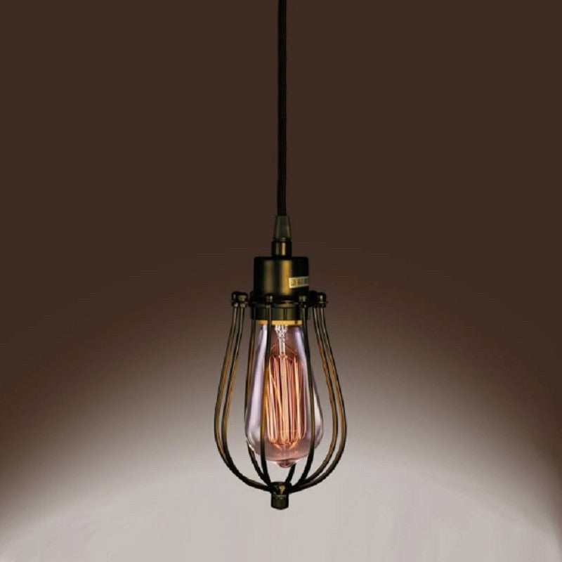 Priscilla LD4030 Single Light Edison Pendant Light with Bulb