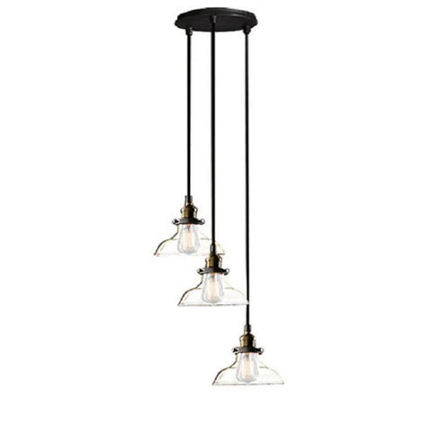 Esmeralda Adjustable Cord 3-light Clear Glass Edison Ceiling Lght LD4035-3