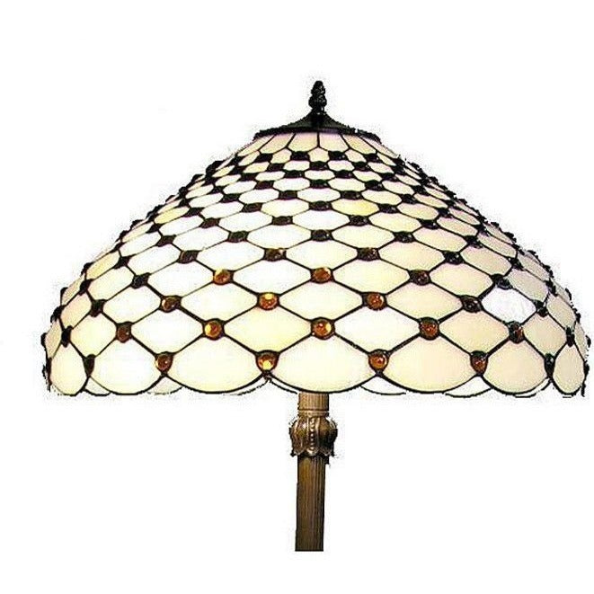 Warehouse of Tiffany F18941 Stained Glass Jewel Floor Lamp