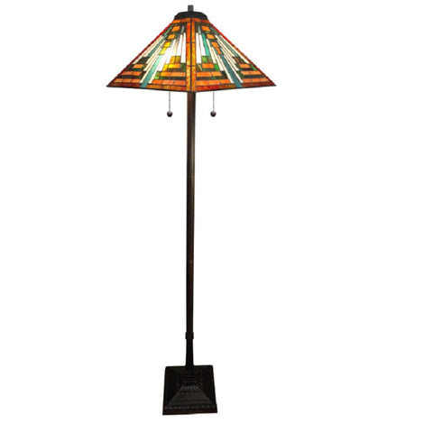Warehouse of Tiffany Style 908#+BB-171 Shay Floor Lamp Orange 61""