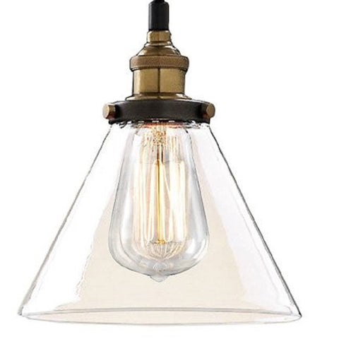 Zhuri LD4033 Adjustable Cord Glass Edison Lamp with Light Bulb