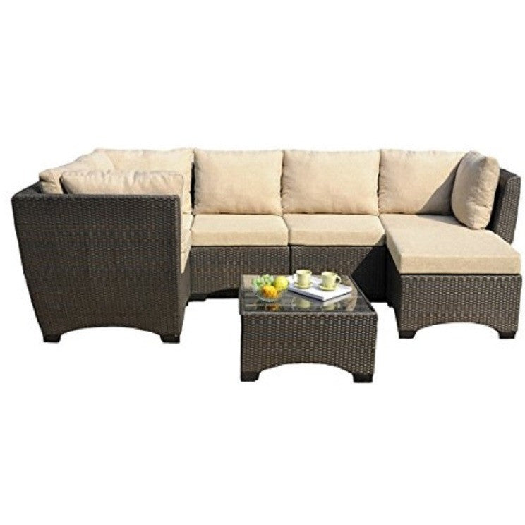 W Unlimited Outdoor Garden Patio Furniture 7PC set w/ Coffee Table