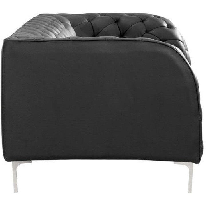 Zuo Modern 900274 Leatherette Providence Sofa Black , Furniture > Sofas - Zuo Modern, Ruby Skies At Night - 1