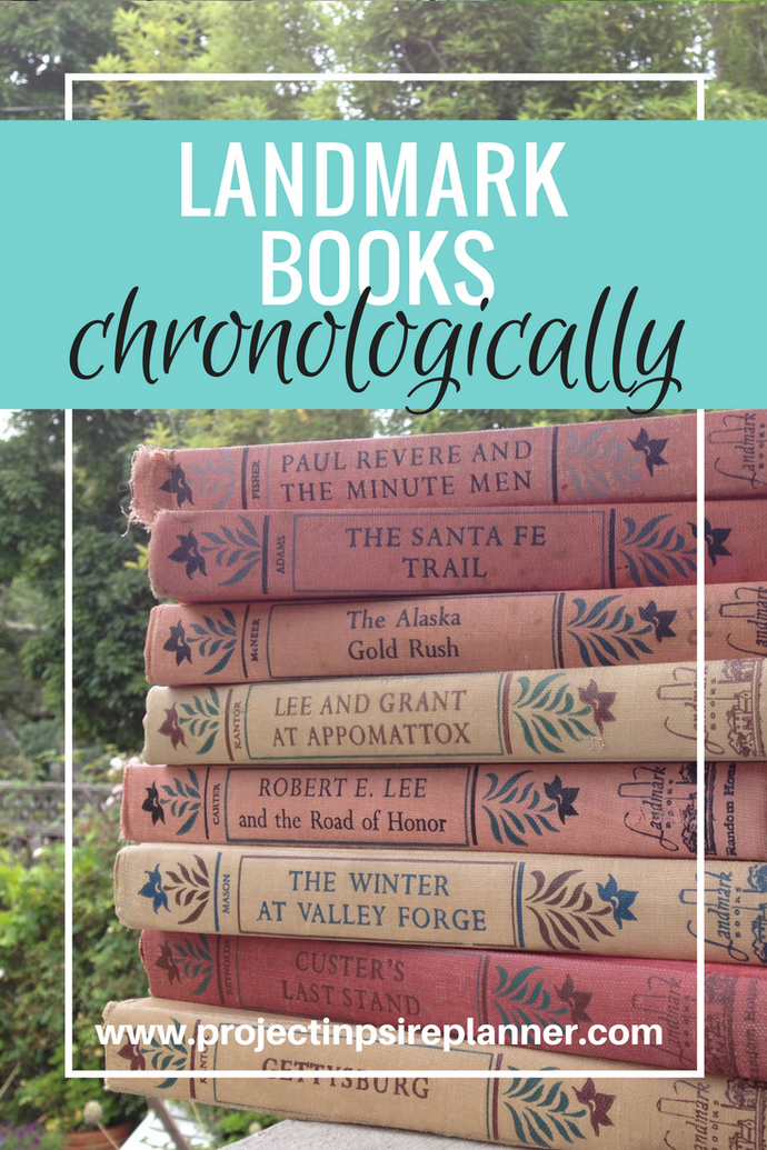 Landmark Books Chronologically