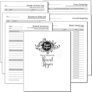 Home Education Record Keeper - Printable Planner