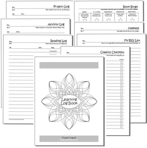 Learning Log Book - Printable