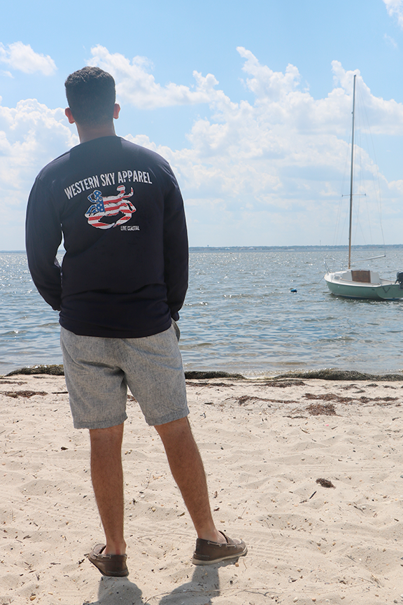 American Blue Claw Long Sleeve