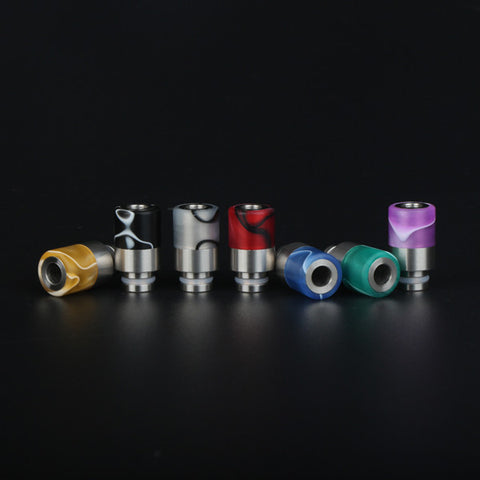 510 SS+ acrylic wide bore drip tips