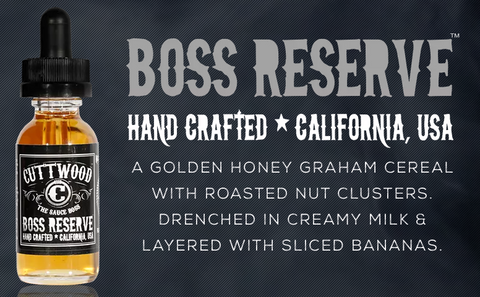Boss Reserve e liquid by Cuttwood