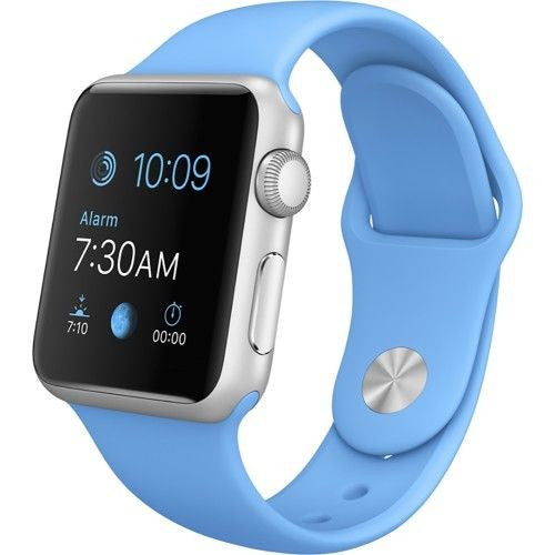 Apple Watch Series 1 Sport 38mm Silver Aluminum Case - Blue Sports Band