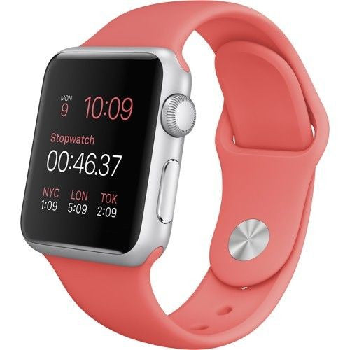 Apple Watch Series 1 Sport 38mm Silver Aluminum Case - Pink Sports Band