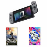 NINTENDO Switch Kit with The Legend of Zelda: Breath of the Wild & Just Dance 2017 - Gray Joy-Con