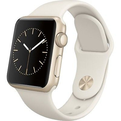 Apple Watch Series 1 Sport 38mm Gold Aluminum Case - White Sports Band