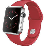 Apple Watch Series 1 38mm Stainless Steel Case - Red Sports Band