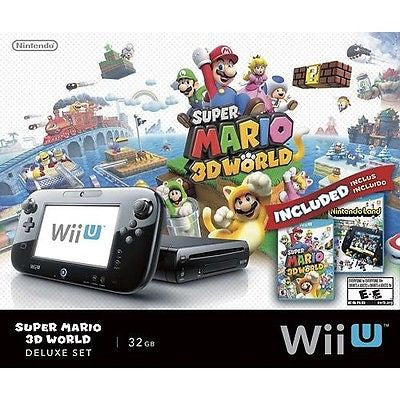 NINTENDO - Wii U 32GB Console Super Mario 3D World & Nintendo Land Bundle