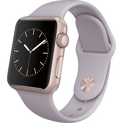 Apple Watch Series 1 38mm Rose Gold Aluminum Case - Lavender Sport Band