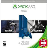Xbox 360 500GB SPECIAL EDITION Blue Console Bundle With Two Games