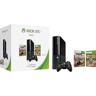 Microsoft Xbox 360 250GB Bundle With Forza Horizon And Borderlands 2