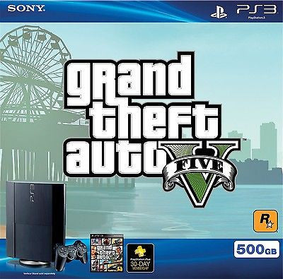SONY - PlayStation 3 500GB Grand Theft Auto V Bundle