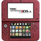 NINTENDO Red 3DS XL Handheld Game Unit (NEWEST MODEL)