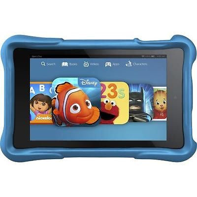 "AMAZON Fire HD Kids Edition 6"" 8GB - Black With Blue Case Bundle"