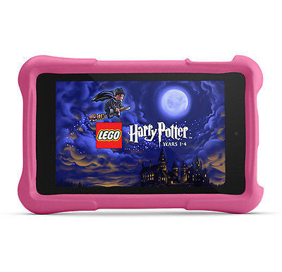 "AMAZON Fire HD Kids Edition 7"" 8GB - Black With Pink Case Bundle"