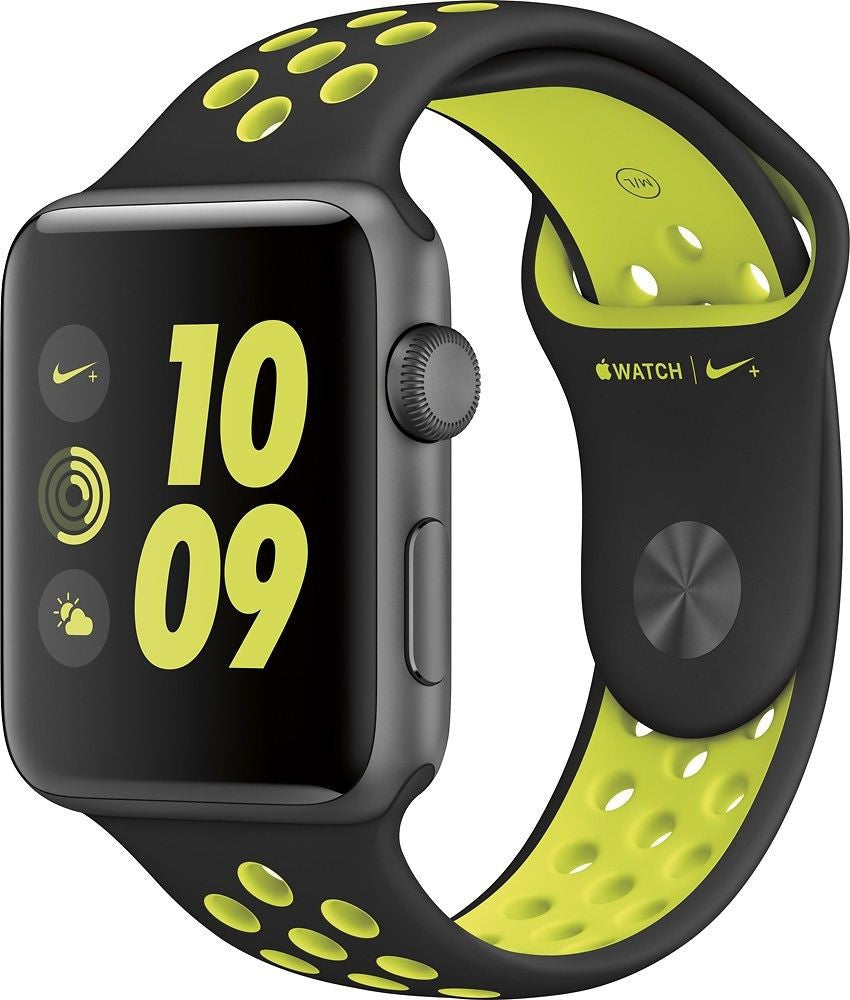 Apple Watch Nike+ 42mm Aluminum Case Black/Volt Sport Band - Space Grey