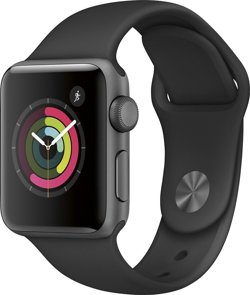 Apple Watch Series 2 42mm Space Gray Aluminum Case - Black Band