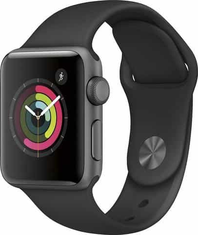 Apple Watch Series 2 42mm Stainless Steel Case Black Sport Band - Space Black