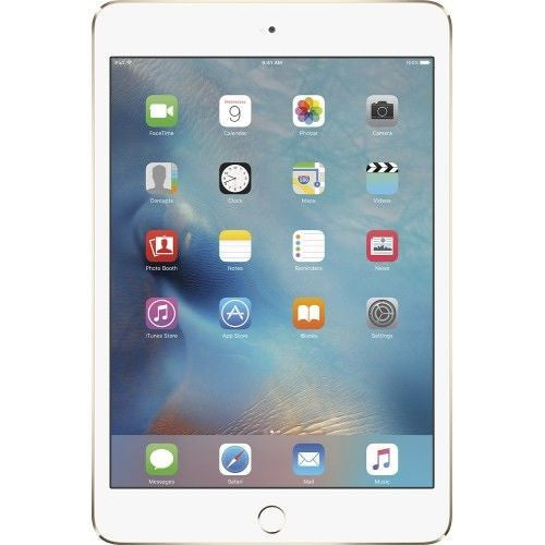 Apple iPad Mini 4 Wi-Fi + Cellular 128GB (Latest Model) - Gold