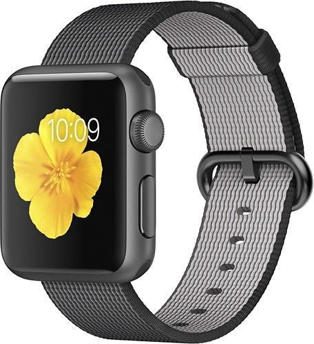 Apple Watch Series 1 Sport 42mm Space Gray Aluminum Case - Nylon Woven Band Black