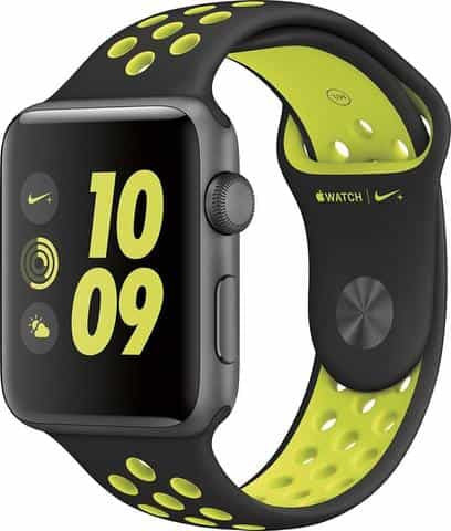 Apple Watch Nike+ 38mm Aluminum Case Black/Volt Sport Band - Space Grey