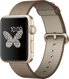 Apple Watch Series 2 42mm Gold Aluminum Case - Toasted Coffee/Caramel Woven Band