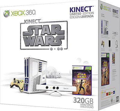 Xbox 360 Game Console Limited Edition Kinect Star Wars Bundle