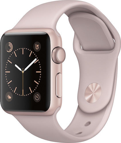 Apple Watch Series 2 38mm Rose Gold Aluminum Case - Pink Sand Sport Band